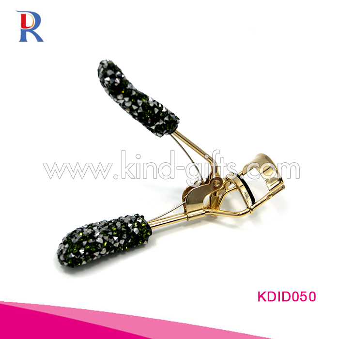 Shining high end Rhinestone studded perfect style crystal rose gold eyelash curler