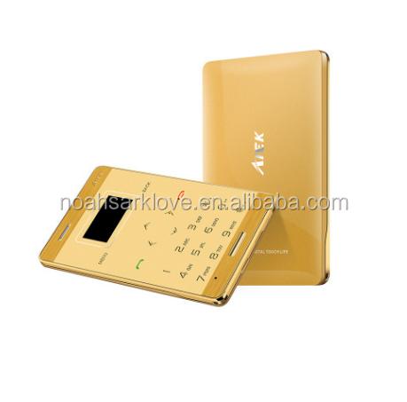 AIEK M3 Card Mobile Phone Ultra Thin Pocket Mini Slim Phone Quad Band GSM Unlocked