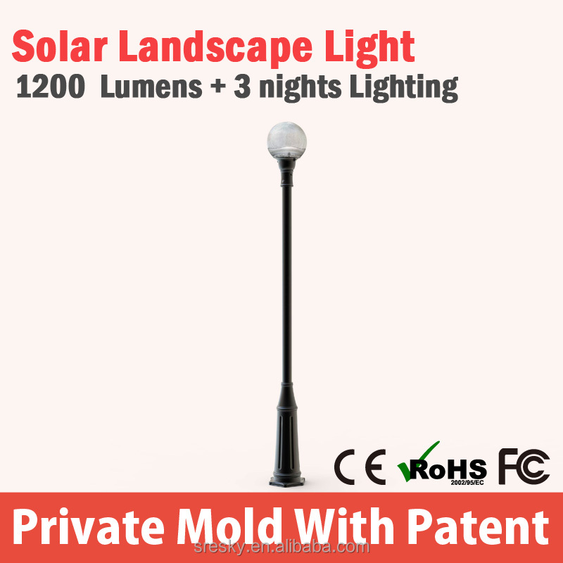 New brand 2016 tulip solar garden light led garden light wholesale online