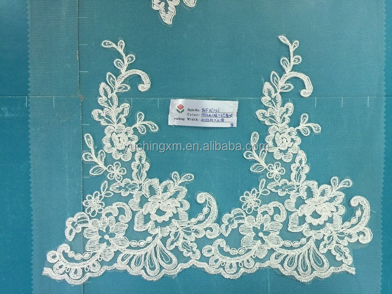 High quality beading embroidery lace fabric african rayon trim lace for bridal dress