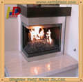 High heat ceramic glass for ceramic fireplace glass door