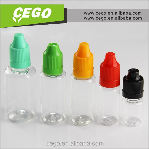 e liquid wholesale e cigarette e liquid tamper proof and CRC cap bottle PET dropper bottle