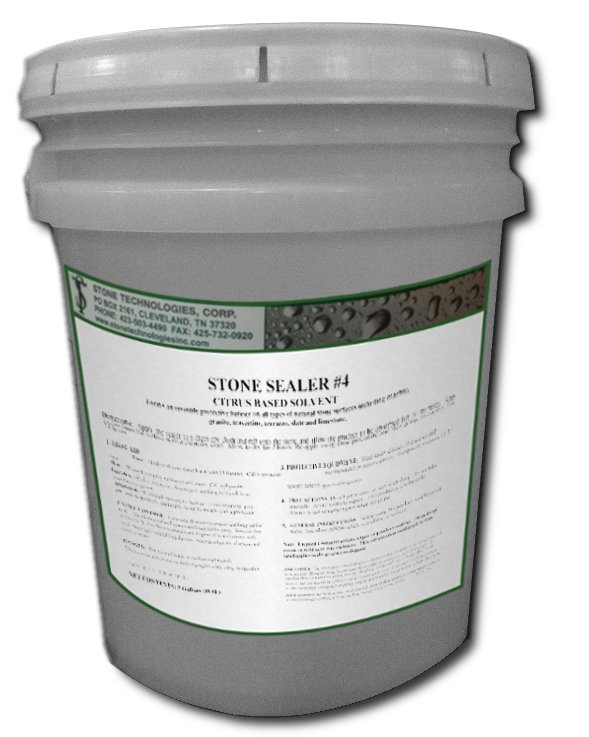 5 Gallons of Stone Sealer #4 - solvent based marble and granite sealer
