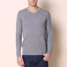 Latest design pullover cool men fashion v neck sweater