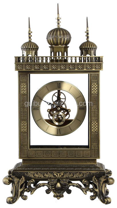 Novelty brass desk timer clock