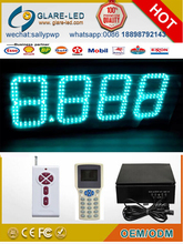 Large outdoor gas station LED price pylon advertisign sign pylon gas station led price sign