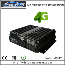 Five channels mobile car dvr provide POE power camera multistar dvr network viewer via PC and mobile phone by CMS