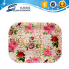 Large flower design deep rectangle high quaily fruit plastic dish