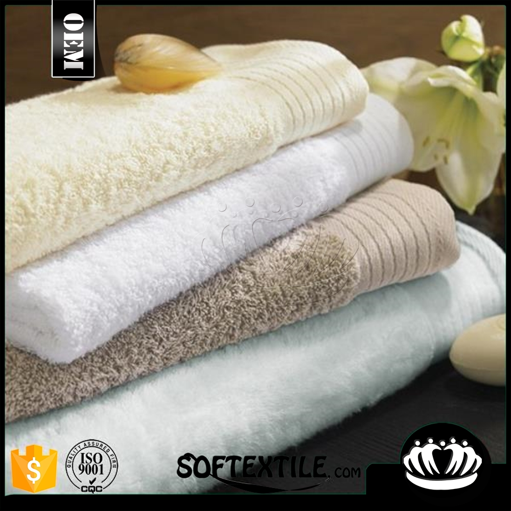 manufacturers china 100% cotton 5 star hotel 16s towel set, white color hotel bath towel