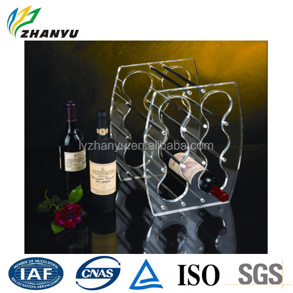 New Arrival Stable Quality Lucite Cast Acrylic Sheet Made acrylic wine rack with Beautiful Design