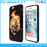 free sample 3D embossment print pc tpu mobile phone case for iphone 6 case luxury