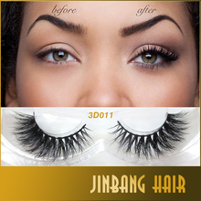 New 1 pair MYKONOS 3D mink eyelash wholesale Lilly 100% real mink fur Handmade crossing lashes D011 individual strip thick lash