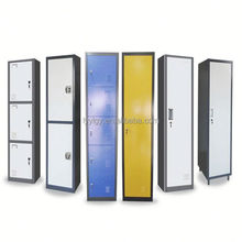 Euloong steel wardrobe with louvered doors