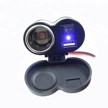 Waterproof Motorcycle Electric bike universal handlebar GPS mobile phone USB Charger with Cigarette Lighter