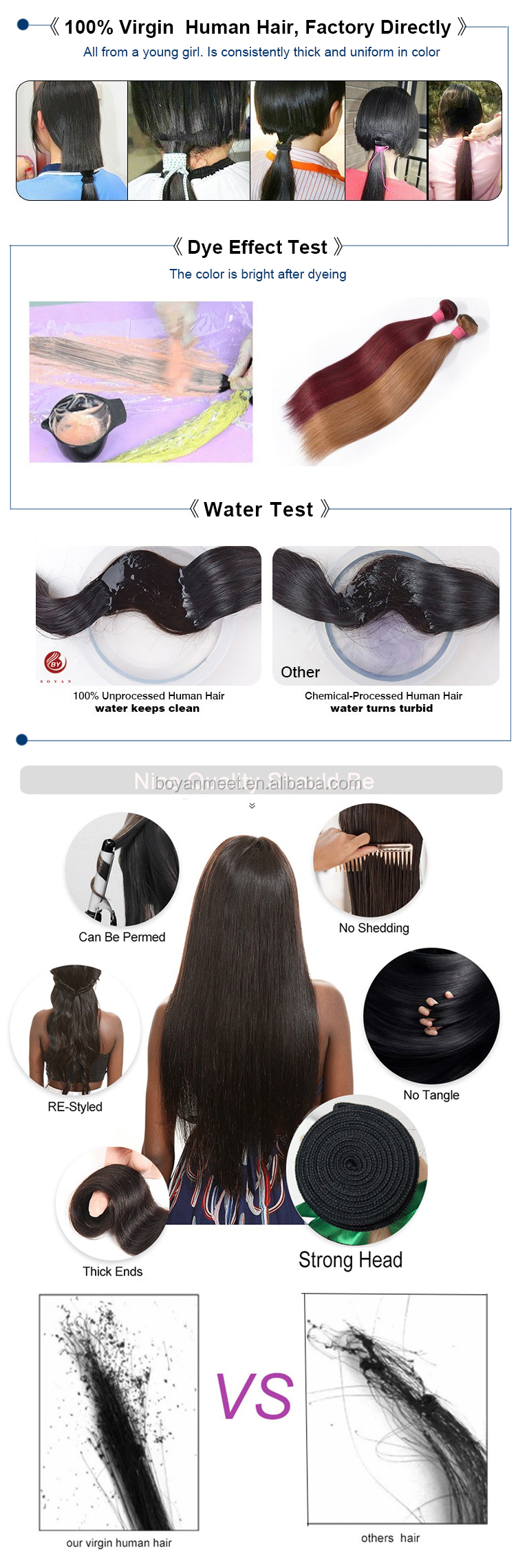 Hair bundles straight 1b/613 blonde human hair weave grade 8a brazilian hair weaves