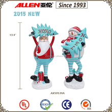 "13.4 "" resin father Christmas, Santa claus statues sale, 2015 new products christmas"