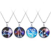 Jewelry Luminous Moonstone Full Glow In the Dark Moon Necklace
