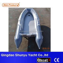 2016 hot selling 0.9-1.5mm PVC inflatable boat with electric motor for sale