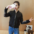 Guangzhou factory biker leather baseball jacket women wholesale