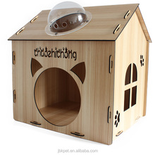 Hot Selling Cardboard Pet product,cat house eco friendly wooden material pet cat dog puppy house,cages