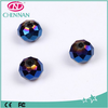Wholesale Glass Crystal electroplating quartz rondelle beads