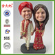 Polyresin personalized bobble heads for wedding souvenirs
