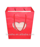 paper bags with heart window