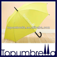 Plastic curve handle straight umbrella