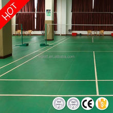 Temperature resistance sturdiness 8mm pvc sports volleyball/badminton court floor from china