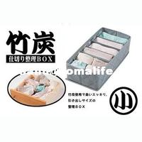-High quality bamboo charcoal series Small 6 single-bra underwear storage box 5.5l