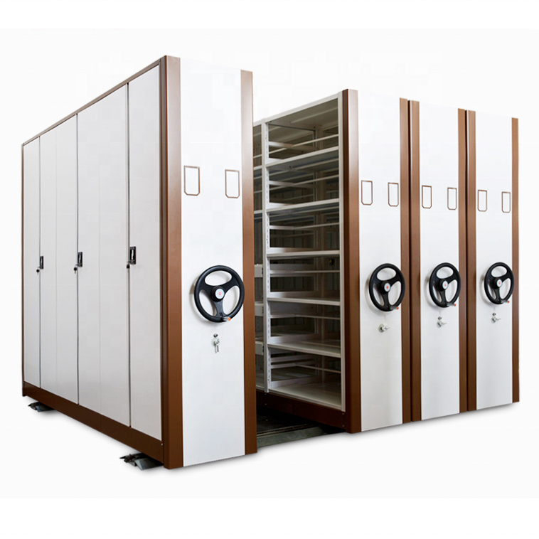 ISO9001&ISO14001 Compact Archives Mechanical Mobile Filing Shelving Storage System