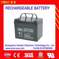 12v 33ah rechargeable lead acid battery
