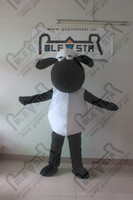 fluffy white fur sheep mascot costumes cute animal