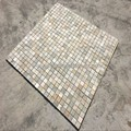 decorative yellow slate stone mosaic tile