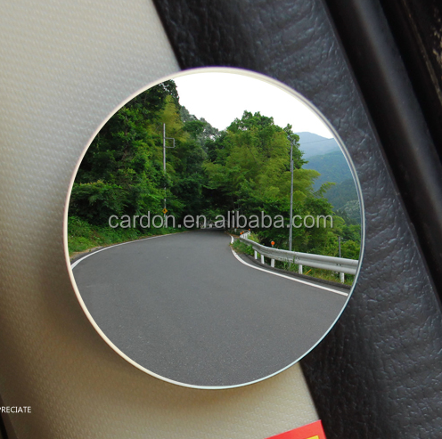 "car Blind Spot mirror auto truck 2"" Round HD Glass Convex smart Rear View Mirror with 3M adhesive Pack of 2"