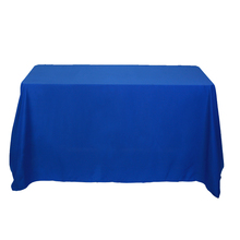 Custom printed polyester fabric full color logo tablecloth