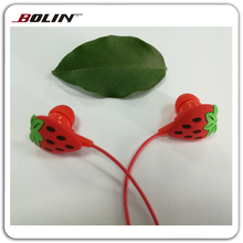 For Children Fruit Shape Hot Sale PVC 2D Cartoon Earphone Driver Unit