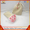High Quality Gift Pouch Eco-Friendly Plain Linen Bag