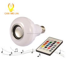 New! E27 12 watt Smart RGB Wireless Bluetooth Speaker music playing Bulb Dimmable LED bulb light with remote control