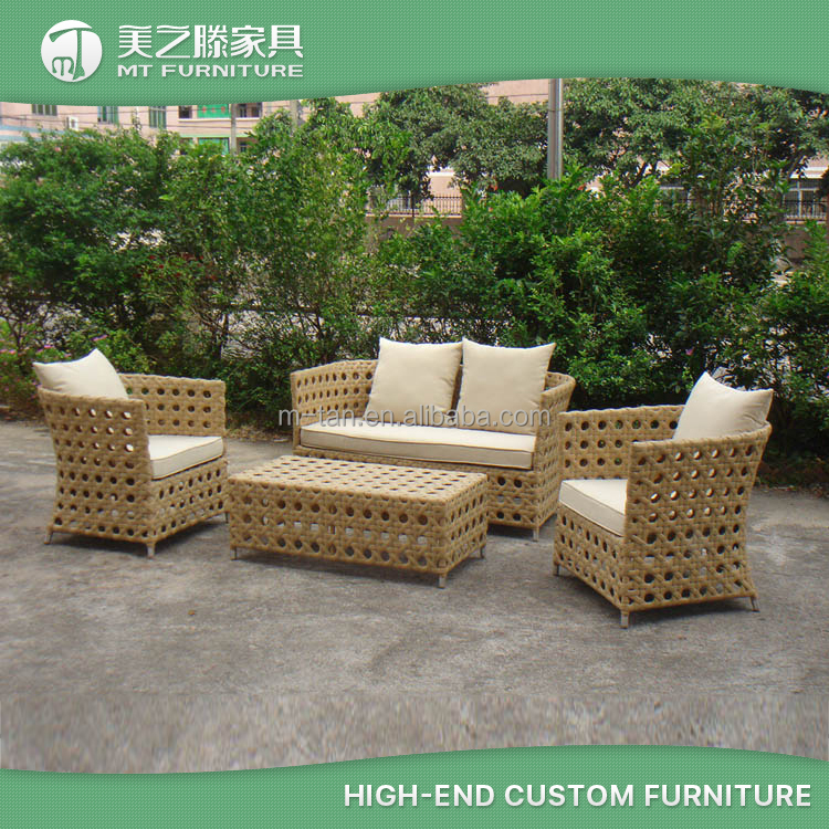 Wholesale Price Wicker Rattan Metal Cane Outdoor Furniture