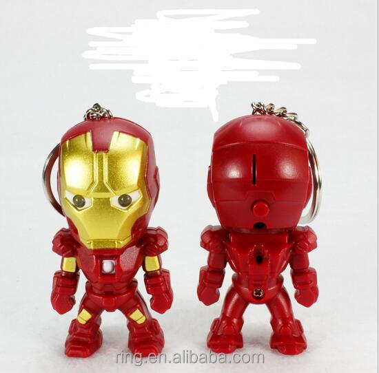 New DesignLED Iron Man Keychian 2Colors Christmas Gift Jewelry