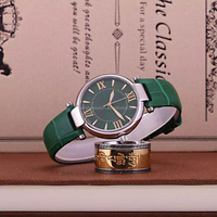 colorful water resistant leather watches women, small stainless steel women watches