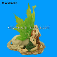 Resting outdoor decorative polyresin Unicorn Figures