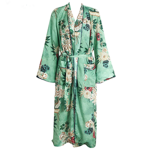 Japanese Style Beach Wear Women's Chiffon Long Floral Kimono Cardigan