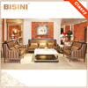 European Wooden Living Room Fabric Sofa Set/ Antique High Quality Living Room Furniture
