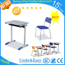 Student furniture single desk and chair use school furniture by high quality hot TV products