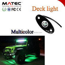 Mini boat led lights ,boat accessories led boat deck light colorful 12V car rock light for led car at suv