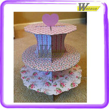 Flower Coardboard Cupcake Tier Tower
