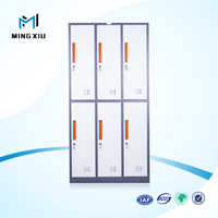 China mingxiu high quality cheap metal storage cabinet / 6 door cabinet locker