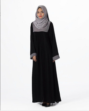 Arabis Black Jersey Polyester Abaya for Women scarf muslim women dubai abaya wholesale